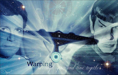 Warping Through Time and Space Together by Nagini-snake