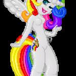 Rainbow Queen by gloomy-cherub