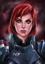 Shepard by EvaKosmos
