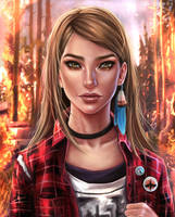 Rachel Amber Fire - Life is strange by EvaKosmos