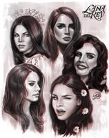 Lana Del Rey Sketches by EvaKosmos