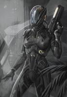 Concept astronaut speedpaint by EvaKosmos