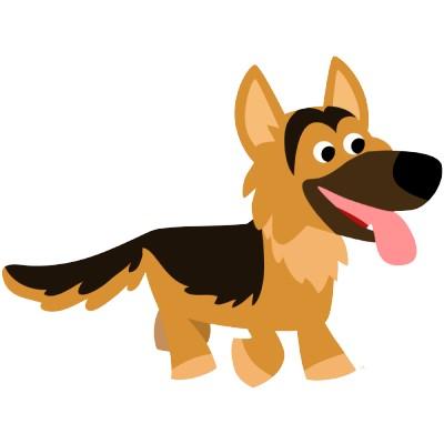 cute cartoon german shepherd dog photosculpture-p1sadieplanet