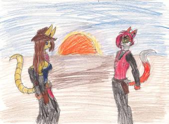 Sunset Showdown by wrytergirl