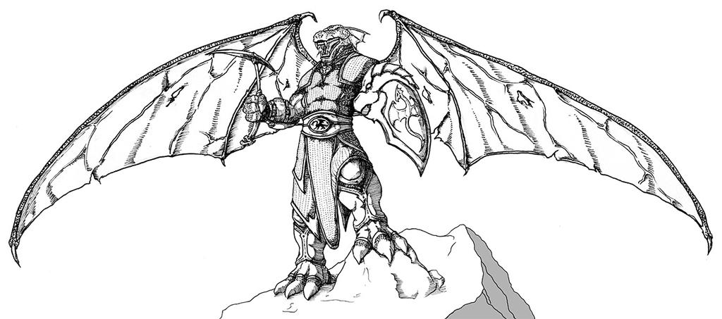 female dragonborn coloring pages - photo#1