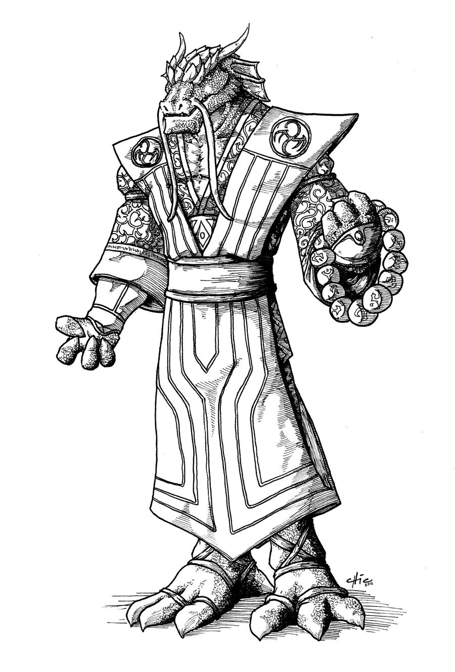 female dragonborn coloring pages - photo#22