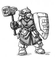 Dwarf Battlerager Fighter by peachyco