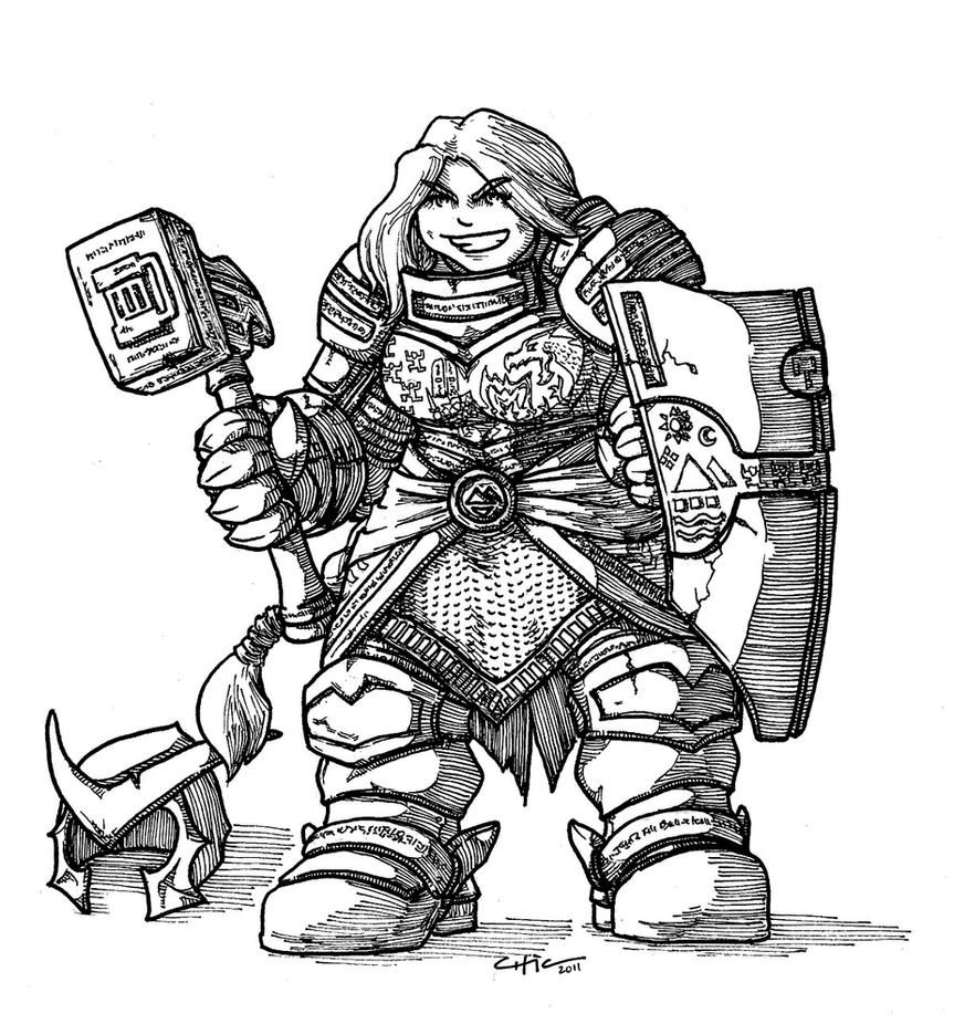 Dwarf Knight by peachyco