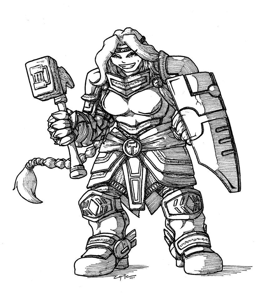 Dwarf Knight, v2 by peachyco on DeviantArt