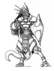 Dragonborn Dagger Sorcerer by peachyco