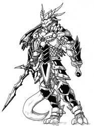 Dragonborn Hexblade by peachyco