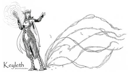 Keyleth, Half-Elf Druid of the Air Ashari