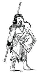 Talyn Wyvernmark, Female Dwarf Druid by peachyco