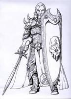 Aasimar Blackguard by peachyco