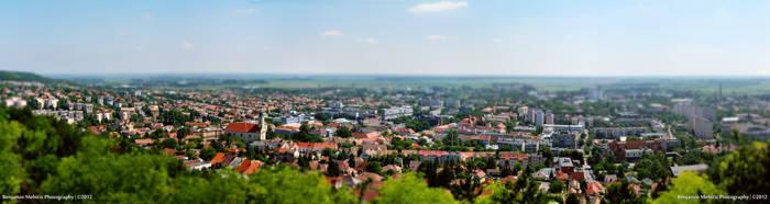 Hometown Tilt-Shift Panorama by MBenjo