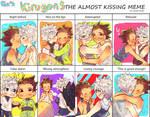 Almost kissing meme with kirugonn