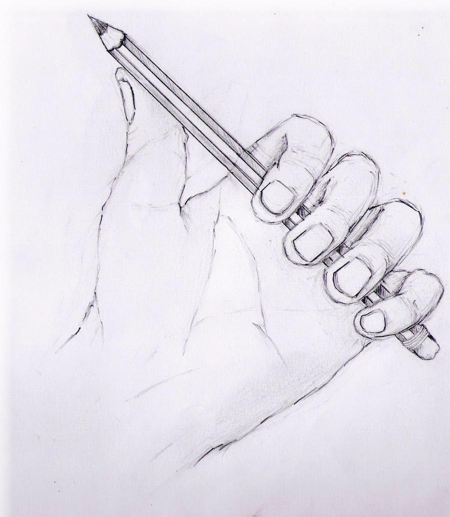 Hand Holding Pencil by 343GuiltySpork on DeviantArt