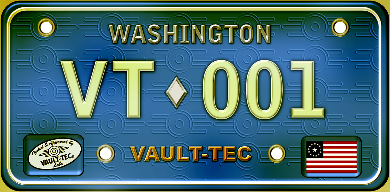 Fallout 3-inspired pre-war license plate by rodelbanares on DeviantArt