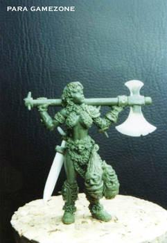 Barbarian women miniature