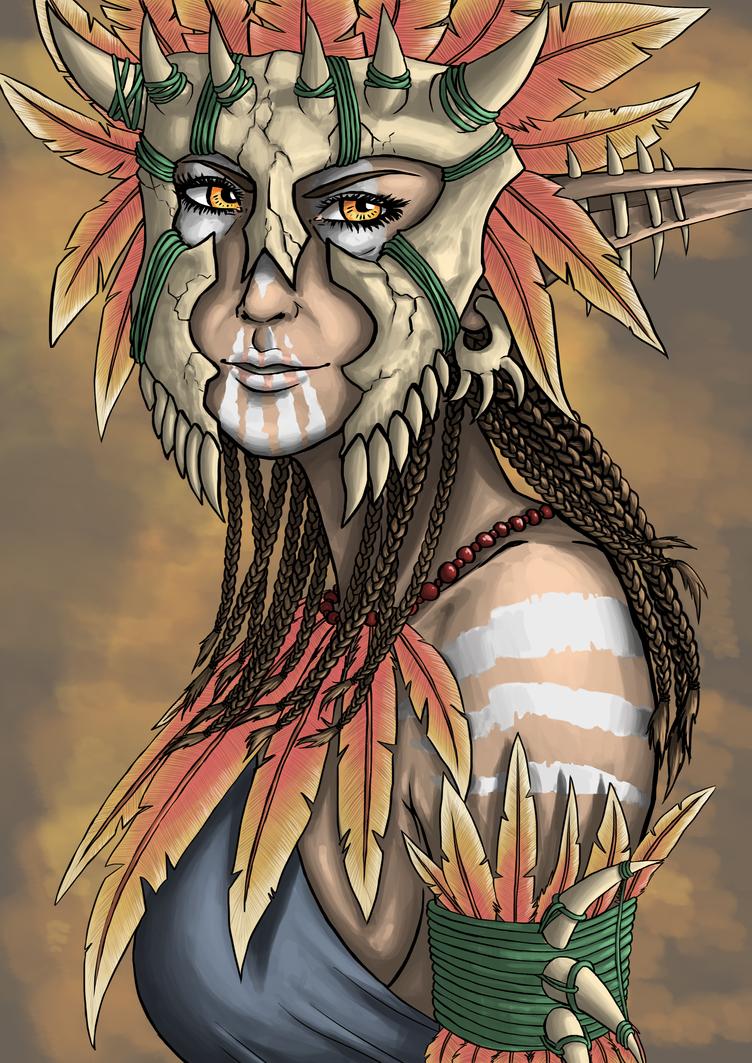 Wild Elf Sharman by Rachninja95