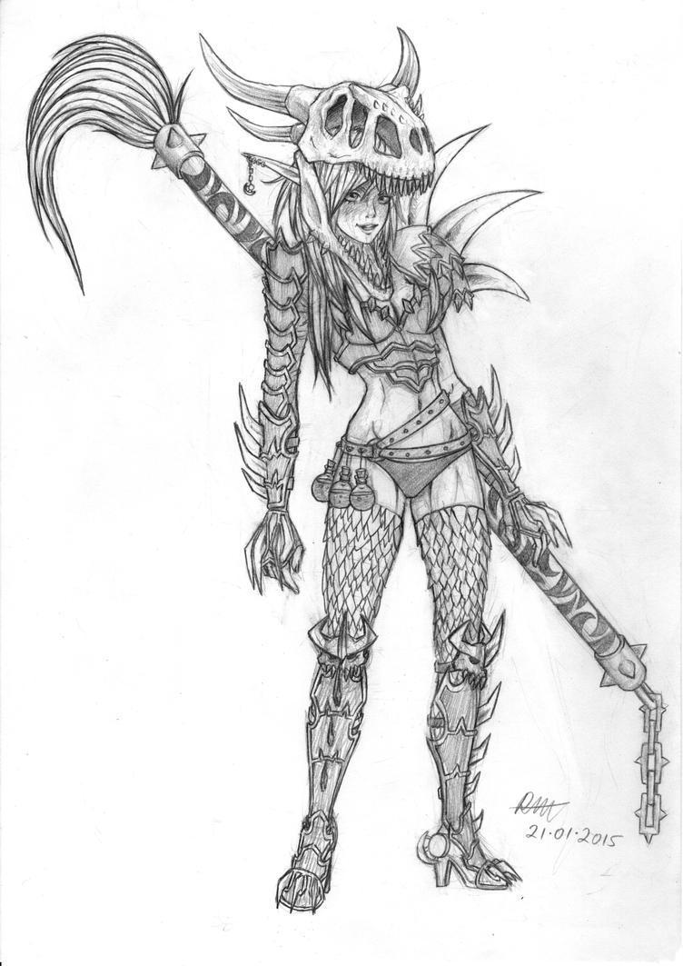 Badass Warrior Painter by Rachninja95