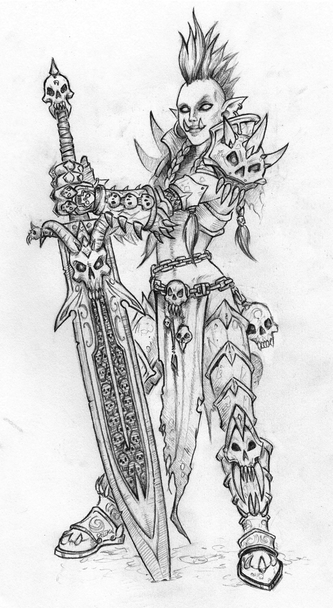 Death Knight Troll Sketch by Rachninja95