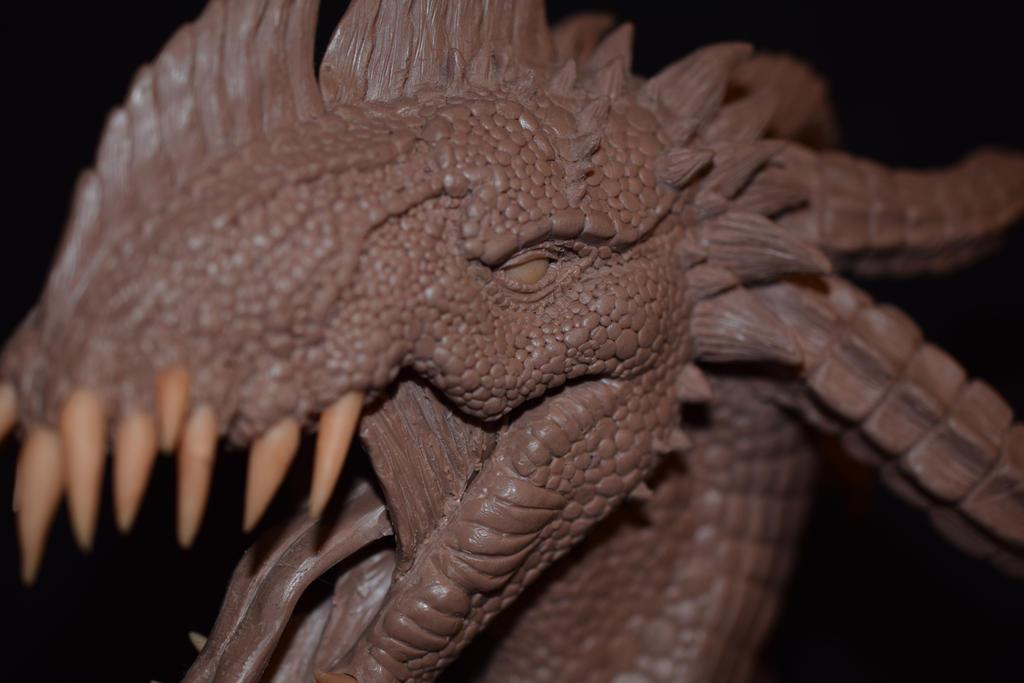 Wyvern sculpture close up 2 by Rachninja95