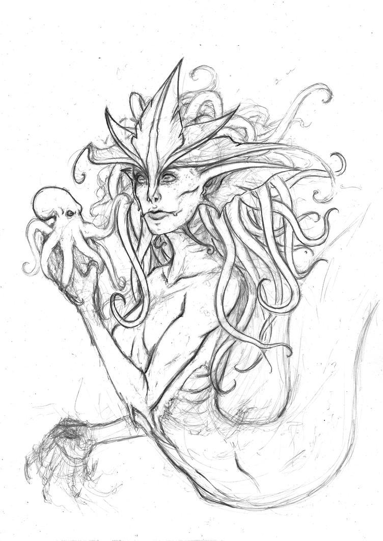 Mermaid WIP by Rachninja95