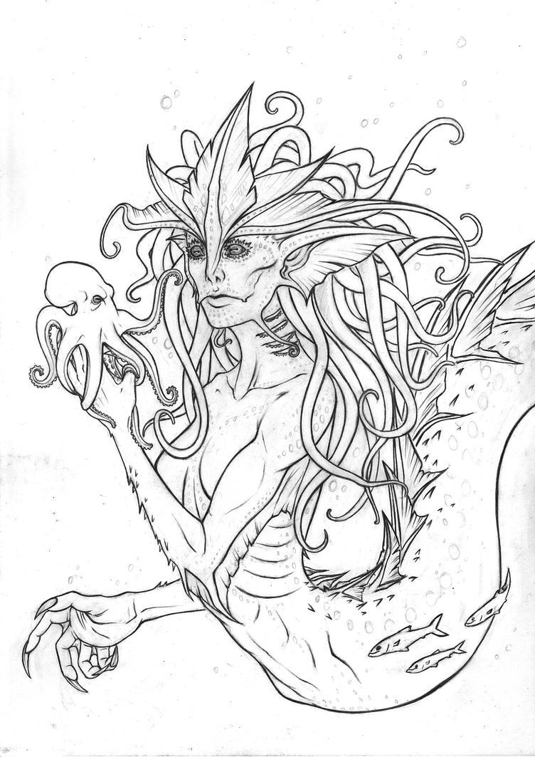 Mermaid WIP 2 by Rachninja95