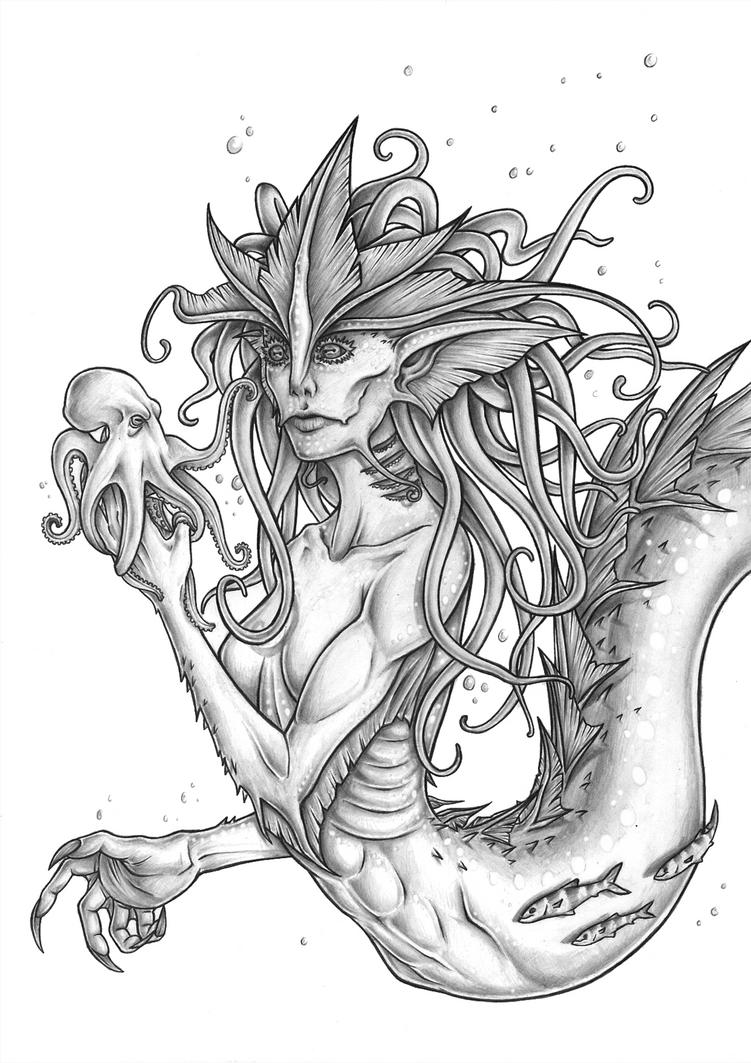 Mermaid and her friend by Rachninja95
