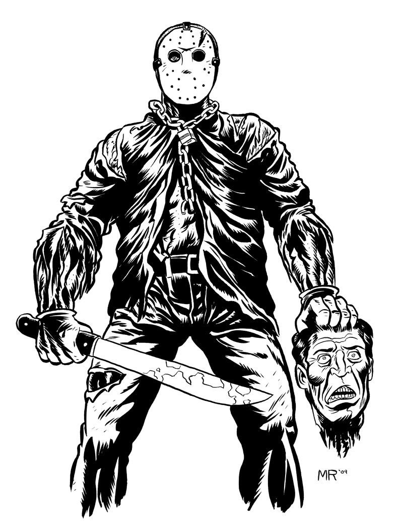 Jason Voorhees by markrudolph on DeviantArt Jason Friday The 13th Drawings