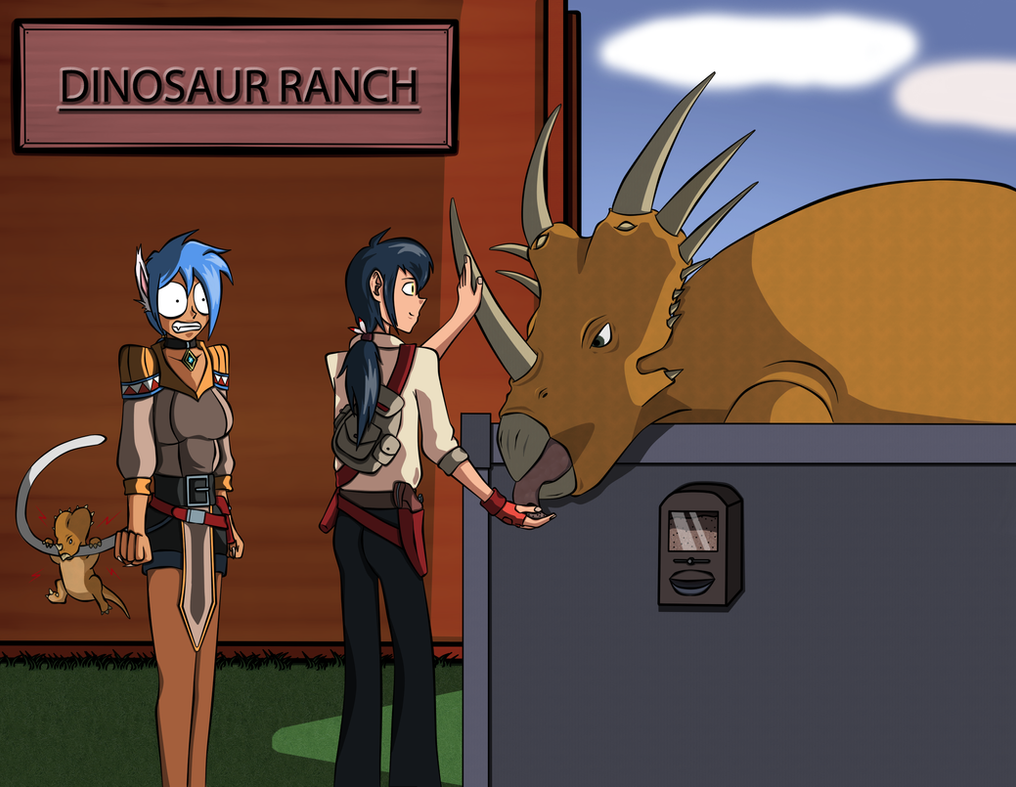 Fun at the Dino Ranch by NEX-EXE
