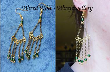 Earrings from chain