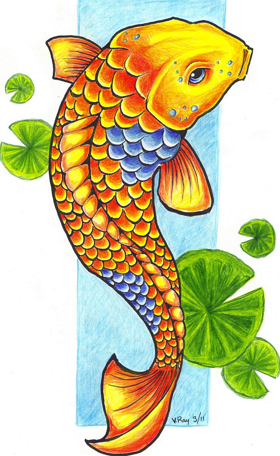 Koi fish by flickter88 on deviantart for Coy fish drawing