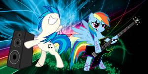 Rainbow Dash and DJ Pon3
