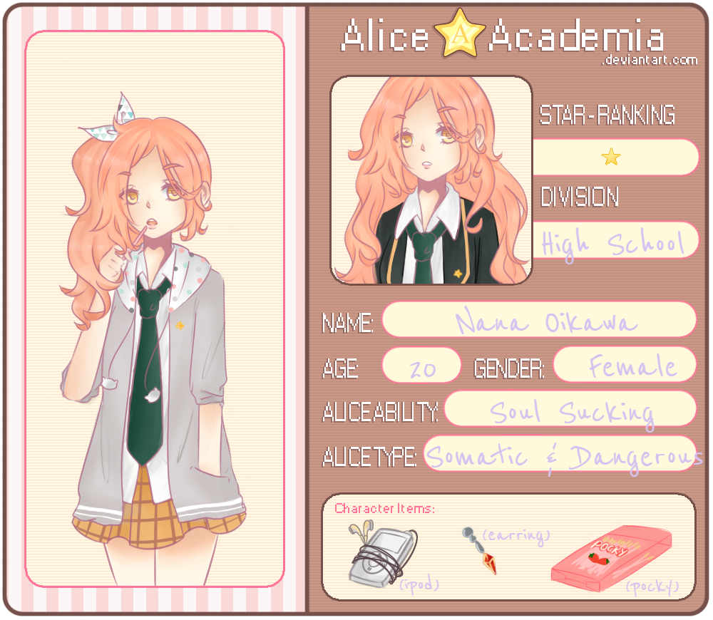 Alice Academia : Oikawa Nana By GreenTeaC On DeviantArt