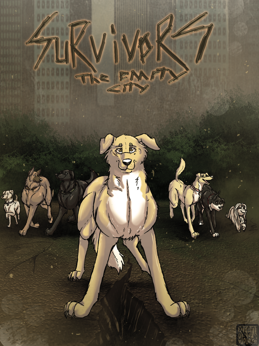 Survivors The Empty City Graphic Novel Cover By
