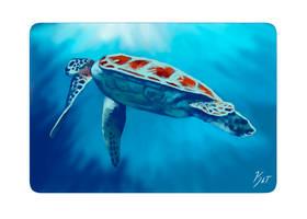 Ripple- Sea Turtle 2 by KatGirlStudio