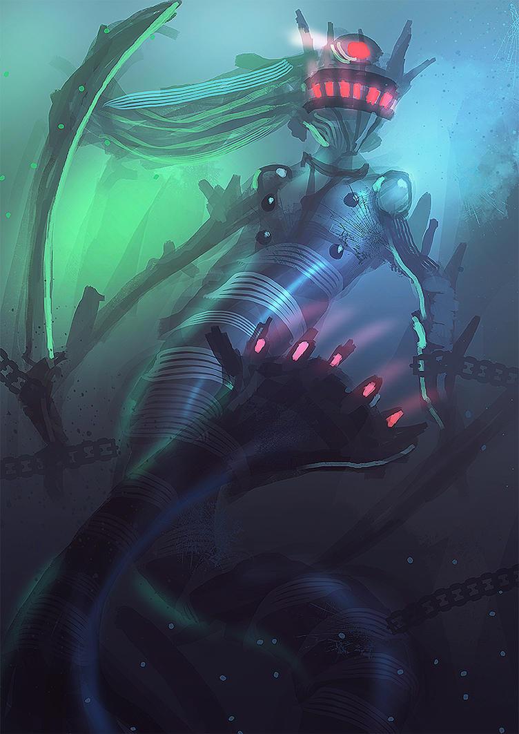 Robot mermaid by nigelhimself