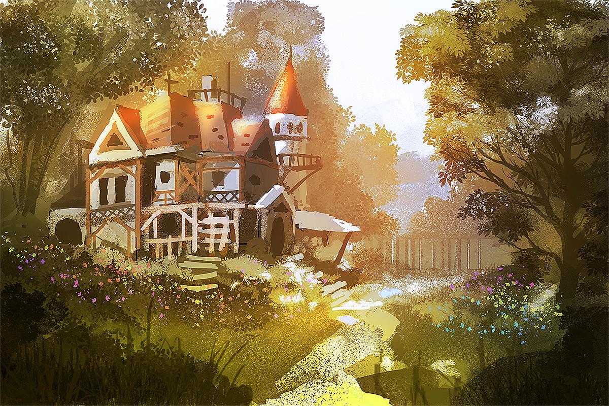 house in the woods by nigelhimself