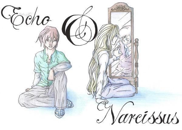 echo and narcissus summary Flere nymfer forelskede sig ulykkeligt i ham, bla echo, der hentæredes af sorg,  narcissus, narkissos, i græsk mytologi en smuk, hovmodig ung mand,.
