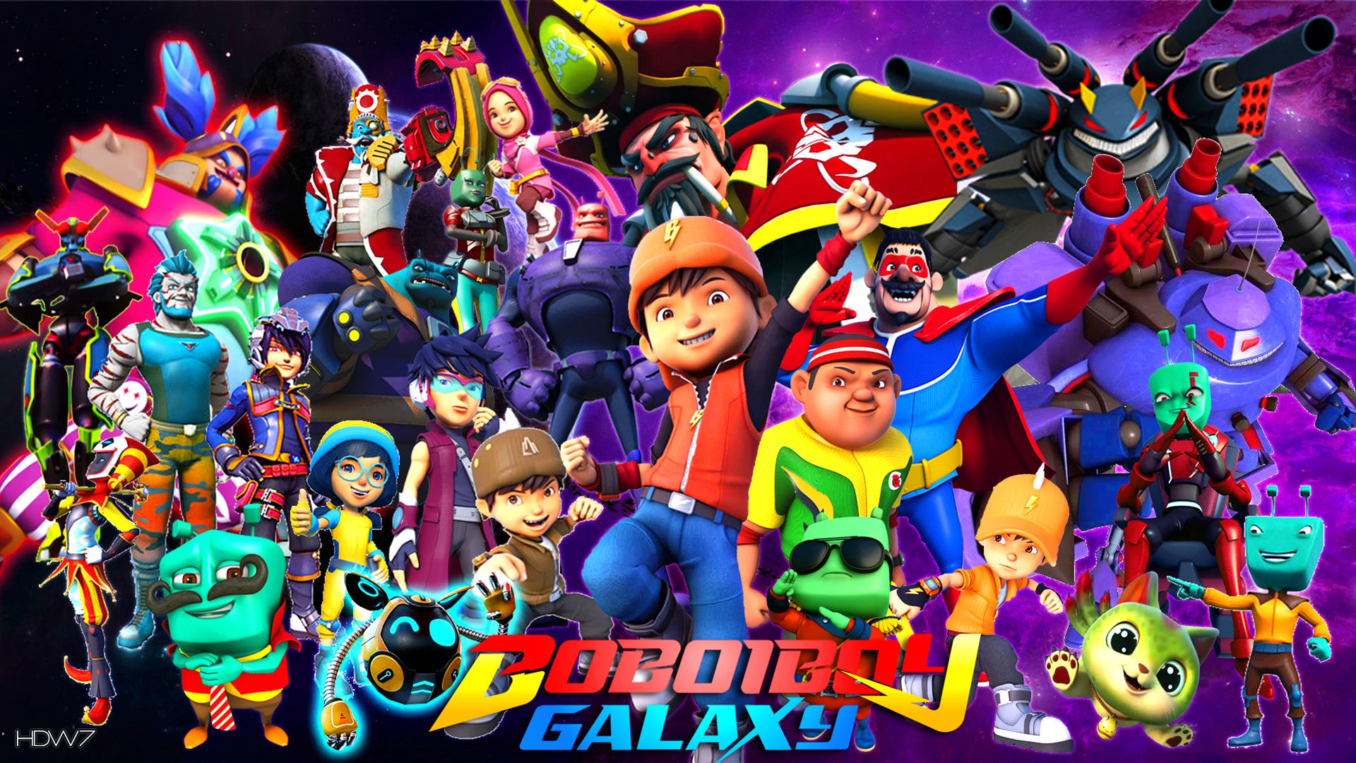 Boboiboy Galaxy Wallpaper