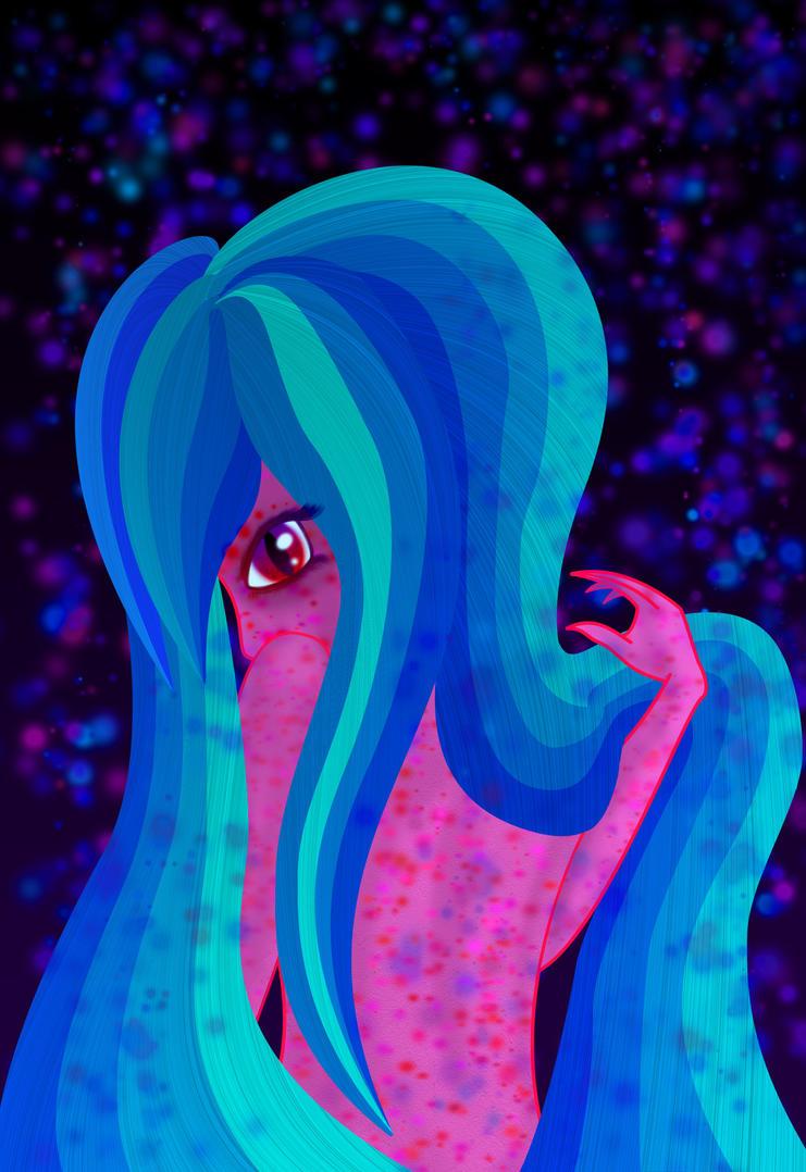 Girl with hair by lunardescentshow
