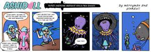 Ashi v Jellyfish! by MerrymanComics