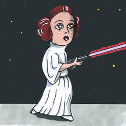 Princess Leia by MerrymanComics