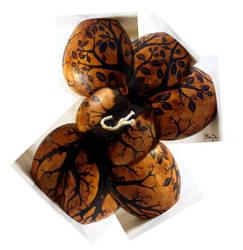 ornamented cabaca: Tree of Life - gunga