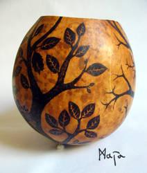 ornamened cabaca: Tree of Life - gunga by MaiaRatynska