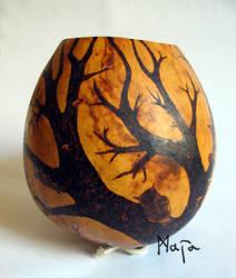ornamented cabaca: Tree of Life - gunga by MaiaRatynska