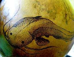 ornamented cabaca: Sereias - gunga