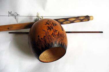 ornamented berimbau - Oxossi viola